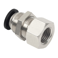 Push to Connect Fittings for Metric Tube NPT Thread Bulkhead Female Straight